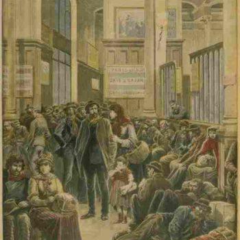 Vespri Siciliani: Italiani alla Stazione di Saint-Lazare