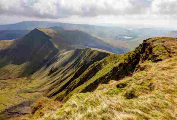 Vista del Parco Nazionale di Brecon Beacons. Qui raccoglievano le erbe i Medici di Myddfai