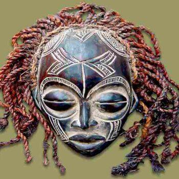 Maschera africana rituale